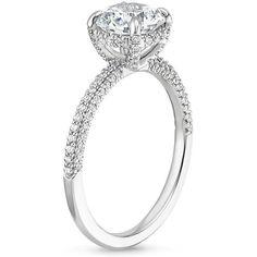 18K White Gold Valencia Diamond Ring, top view