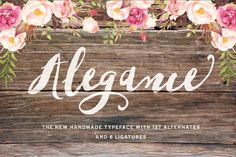 Alegance Typeface by Graphic Box on @creativemarket