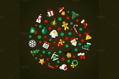Christmas 24 Icons Set + Bonuses by Decorwith.me Shop on Creative Market
