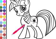 Colorear My Little Pony.com - Juego: Colorear Unicornio Twilight Sparkle - Jugar Pintar Mi Pequeño Poni La Magia de la Amistad Juegos Gratis Online