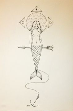 The Mermaid / Η Γοργόνα by Lefteris AFEL, via Behance