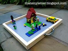This will be a great project for you to make for Jack when his lego obsession begins.  Portable lego tray.