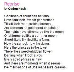 Ogden Nash Nash, Ogden (Poetry Criticism) - Essay