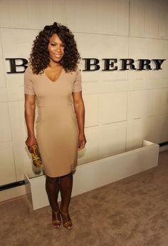 Serena Williams wearing Burberry in LA