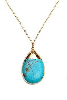 Turquoise teardrop necklace