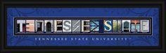 Tennessee State University Officially Licensed Framed Letter Art