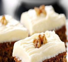 Enjoy our twist on an old favourite with this recipe for carrot cake. Using FAGE Total Yoghurt ensures a moist cake in addition to being healthier. Greek Sweets, Greek Desserts, Greek Recipes, Yogurt Recipes, Moist Carrot Cakes, Moist Cakes, Cake Recipes, Dessert Recipes, Yummy Cakes