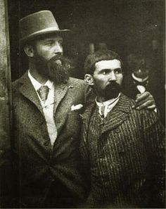 """mrdirtybear: """"French artists Gustave-Claude-Etienne Courtois and Pascal Dagnan-Bouveret, two lovers who met in art school and were as united creatively as they domestically, read an Advocate article. Vintage Couples, Vintage Men, Jean Leon, French History, Mystique, Claude, Arts And Entertainment, Gay Couple, Man Photo"""