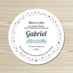 Tannilou - Faire-part naissance GABRIEL Stationery Design, Branding Design, Gabriel, Invitation Cards, Invitations, Flyer, Baby Cards, Birth, Baby Shower