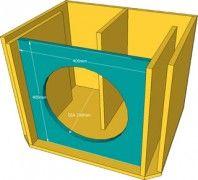 Click na imagem para ampliar Speaker Box Diy, Speaker Plans, Speaker Box Design, Diy Speakers, Tower Speakers, 15 Inch Subwoofer Box, Diy Subwoofer, Subwoofer Box Design, Subwoofer Speaker