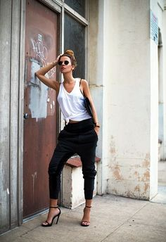 25 Stylish Ideas to Make Those Harem Pants Look Sexier | Heram Pants Ideas | Pant Outfits for Women | Fenzyme.com