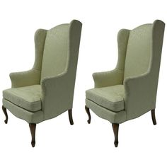 Pair of Petite Wingback Armchairs | From a unique collection of antique and modern wingback chairs at https://www.1stdibs.com/furniture/seating/wingback-chairs/