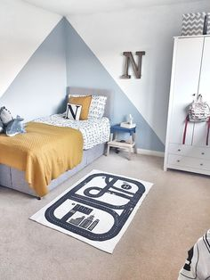 Injecting some colour into our eldest boys room - toddler room ideas Boys Bedroom Paint, Girls Bedroom, Bedroom Decor, 4 Year Old Boy Bedroom, Boys Room Paint Ideas, Boy Bedrooms, Bedroom Ideas, Toddler Rooms, Baby Boy Rooms