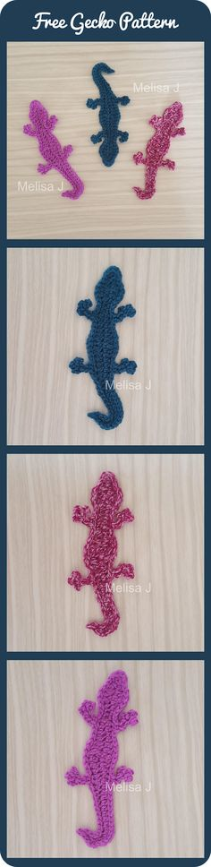 Gecko Applique Motif Free Crochet Pattern