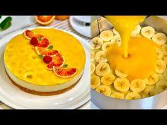Αυτή η τούρτα κάνει τον κόσμο τρελό! πολύ καλό! Asmr # 160 - YouTube Banana Dessert, Cake Fillings, New Cake, Crazy Cakes, Lemon Cheesecake, Cake Creations, Desert Recipes, Cake Cookies, Sweet Bread