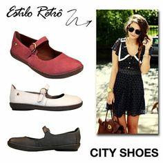 Foi pensando nas mulheres clássicas e de estilo vintage que a City Shoes criou o tênis estilo boneca.