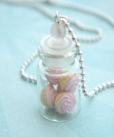 pink cupcakes in a jar necklace- cupcake necklace by jazlenecollection on Etsy https://www.etsy.com/listing/202412521/pink-cupcakes-in-a-jar-necklace-cupcake