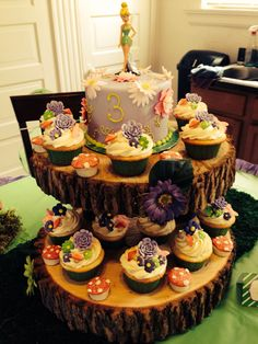 Tinkerbell Party cake stand
