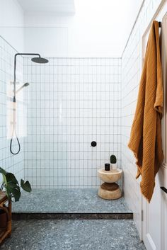 Geneva Vanderzeil of stylish DIY website *A Pair & A Spare* teams up with her designer partner to revive a Brisbane fixer-upper. Home decor / Interior design / Bathroom shower white tiles Bathroom Interior Design, Decor Interior Design, Interior Decorating, Bathroom Designs, Bathroom Ideas, Bathroom Makeovers, Bathroom Inspo, Bathroom Rules, Bathroom Trends