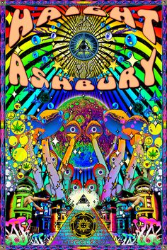 Been to Haight Ashbury...Love this art poster.