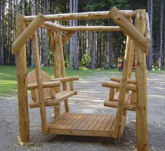 We carry this Twist of Nature Red Pine Log Double Yard Swing, and other fine American-made rustic furniture and décor. Browse our rustic furniture catalogs now. Free Delivery to 48 states. Lawn Swing, Wood Swing, Indoor Swing, Log Furniture, Reclaimed Wood Furniture, Garden Furniture, Outdoor Furniture, Outdoor Seating, Outdoor Chairs