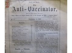 Pero el movimiento antivacunas no es tan reciente. En 1869 ya se publicaban en Inglaterra panfletos contra la vacunación.