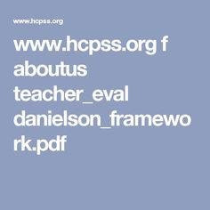 www.hcpss.org f aboutus teacher_eval danielson_framework.pdf