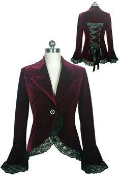 veste style gothique victorien