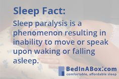 Sleep Paralysis can be a scary experience, click to learn more. #sleepparalysis #bedinabox
