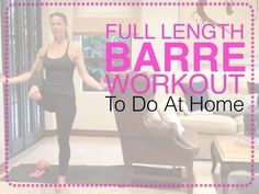Barre Workout Video - FREE 40 Minute Barre Workout Video At Home - YouTube Ballet Barre Workout, Barre Workout Video, Pilates Barre, Butt Workout, Workout Videos, Barre Workouts, Workout Classes, Workout Mat, Fitness Diet