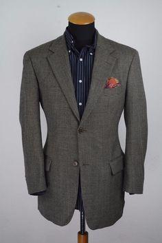 Loro Piana Gingham Men's Sport Coat size 52 Regular Houndstooth ...