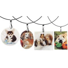 Custom Mother of Pearl Photo Charm Necklace - Dog Beds, Dog Harnesses & Collars, Dog Clothes & Gifts for Dog Lovers   In The Company of Dogs