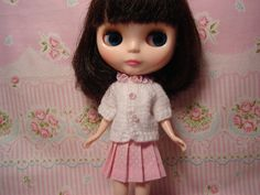 Pullip or Blythe Fancy Lace Trim Sweater REDUCED by DollyDressUp, $10.00