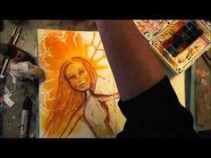 """Cast the Darkness Featuring Artistcellar 'Reims"""" stencil,  Art journaling"""