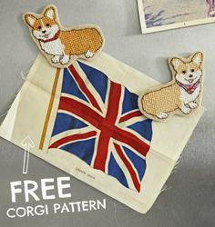 FREE corgi cross stitch pattern
