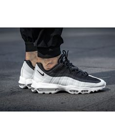 finest selection d3dd9 8d79b Nike Air Max 95 Ultra Essential Trainers In Black White Air Max 95 Ultra,  Air