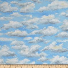 Running Wild Rivers Clouds Blue from @fabricdotcom  Designed by Katherine Gardner and Neoma Solberg for Troy Fabrics, this fabric is perfect for quilting, apparel and home decor accents. Colors include white and blue.