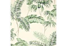 Negril Wallpaper, Cream/Green | One Kings Lane