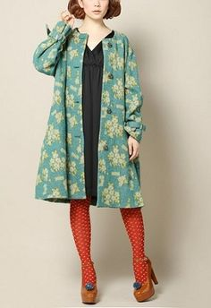 love this !!  coat / everlasting sprout...tights!