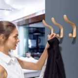 Flowply Plywood Wall Hooks Set of 4 Wood Coat Hooks Hanging Clothes Hats Robes Towels Maple Wooden Plywood Walls, Plywood Sheets, Sheet Rock Walls, Hollow Wall Anchors, Entry Furniture, Modern Hallway, Masonry Wall, Hanging Clothes