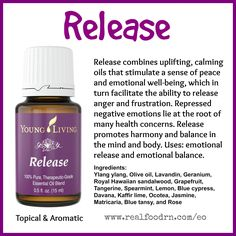 Release Essential Oil. Emotional release and emotional balance. #release #essentialoils