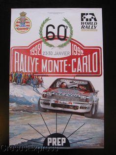 AFFICHE ORIGINALE ACM 60° RALLYE MONTE CARLO 1992 WRC fr.picclick.com