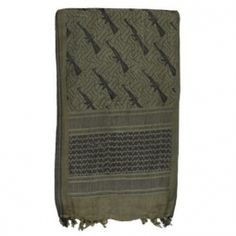 Tactical Shemagh - M16 - Black & Olive Drab