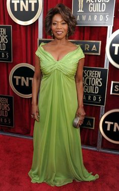 Alfre Woodard in Kevan Hall at the SAG Awards