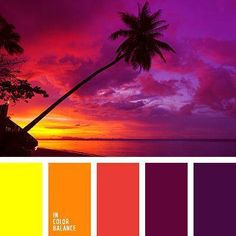 Color combination color pallets color palettes color scheme color inspiration Beautiful shades of perfect evening Pink purple yellow and other colors of sunset Scheme Color, Colour Pallette, Colour Schemes, Color Patterns, Color Combos, Sunset Color Palette, Beautiful Color Combinations, Bright Colour Palette, Burgundy Colour Palette