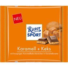 RITTER SPORT 250g Karamell + Keks Schokolade