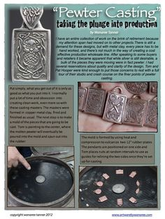 Taking the plunge into production! From metal clay original to cast pewter, 4 Processes a Month (4PAM) #3