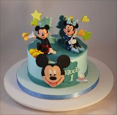 Mickey and Minnie Mouse 1st Birthday Cake