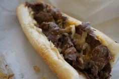 Philip's Steaks - Whiz and fried onions.