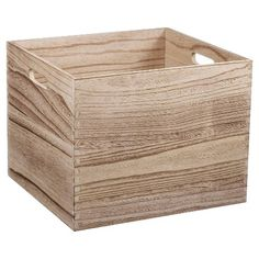 Circo Large Wood Milk Crate - Natural $16.99. Features: Stackable Material: Wood Care and Cleaning: Wipe Clean with a Dry Cloth Capacity (volume): 2000.000 Product Dimensions: 11.000,H 13.000,W 14.000D Assembly Details: no assembly required